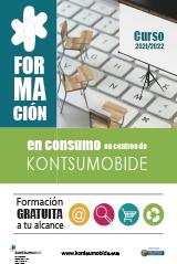 Folleto 'Formación en consumo en centros de Kontsumobide'